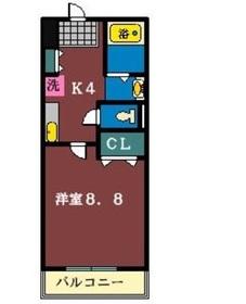 セラ大神宮下2階Fの間取り画像