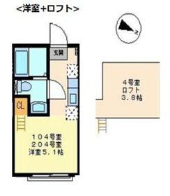 新横浜駅 徒歩6分2階Fの間取り画像