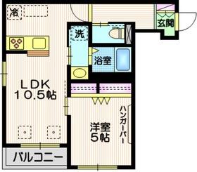 Tiida武蔵小山3階Fの間取り画像