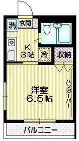 メゾンM1階Fの間取り画像