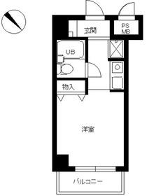 スカイコート品川68階Fの間取り画像