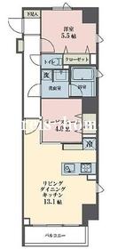 レーヴ半蔵門8階Fの間取り画像