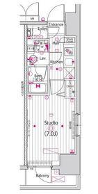 ガーラ・リバーサイド横濱南5階Fの間取り画像