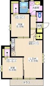 メゾンテラス逗子3階Fの間取り画像