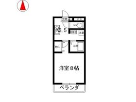 コスモ212階Fの間取り画像