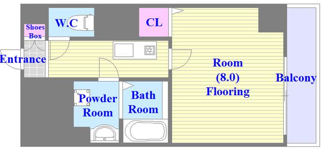 プラ・ディオ徳庵セレニテ バス・トイレが別のセパレートでゆっくりくつろげる空間です