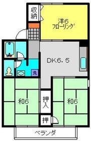 旭レジデンスA2階Fの間取り画像
