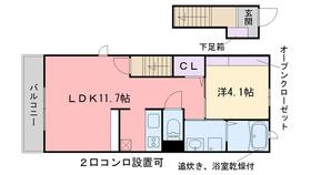 ベルヴィオーラII2階Fの間取り画像