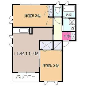 キャッスルフィールド2階Fの間取り画像