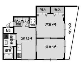 第三松本ハイツ2階Fの間取り画像