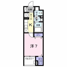 京王堀之内駅 徒歩5分5階Fの間取り画像