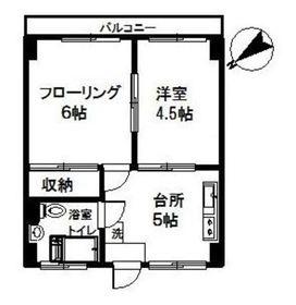 オオトリマンション4階Fの間取り画像