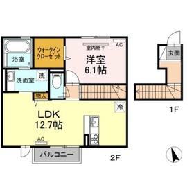 アースガーデンSOJA Ⅱ2階Fの間取り画像
