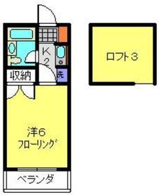 新羽駅 徒歩30分1階Fの間取り画像