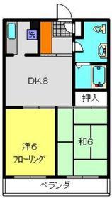 重恵ハイツ1階Fの間取り画像