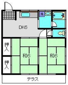 神奈川坂荘B2階Fの間取り画像