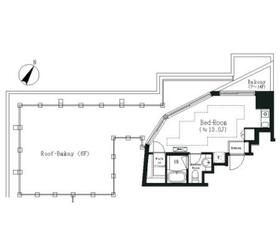 エルスタンザ白金13階Fの間取り画像