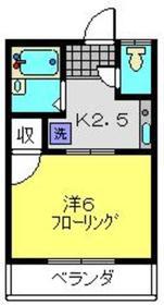 グリーンコーポ斉藤2階Fの間取り画像