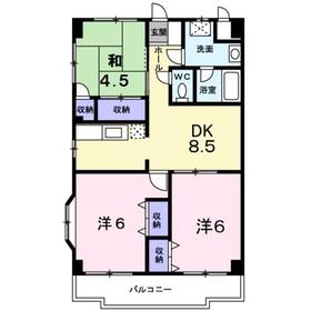 ドリームパレス6階Fの間取り画像
