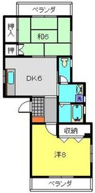 東戸塚駅 バス7分「環2今井」徒歩4分2階Fの間取り画像