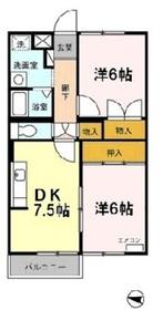 エバーヒルマンション1階Fの間取り画像