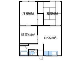 志田ハイツ1階Fの間取り画像