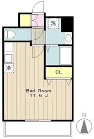 海老名駅 徒歩6分8階Fの間取り画像