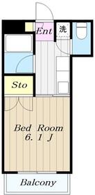 相模が丘石井ビル3階Fの間取り画像