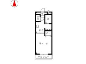 エクセーヌメゾン3階Fの間取り画像