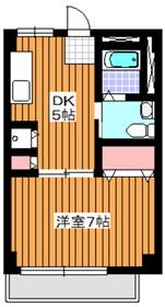 地下鉄赤塚駅 徒歩9分5階Fの間取り画像