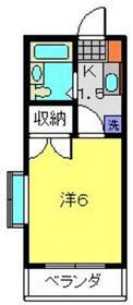 元住吉駅 徒歩14分1階Fの間取り画像