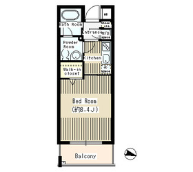 メゾン211階Fの間取り画像
