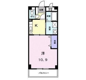 アクアヴィラ3階Fの間取り画像
