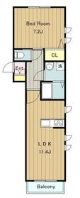 ファミーユユーワ3階Fの間取り画像