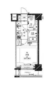 ライジングプレイス桜木町弐番館8階Fの間取り画像