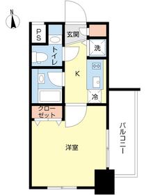スカイコート新宿落合壱番館6階Fの間取り画像