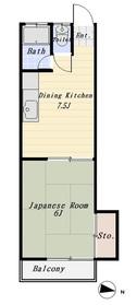 ハニービーフラッツ 102号室
