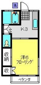 清水マンション3階Fの間取り画像