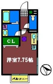 ドルチェ B棟2階Fの間取り画像