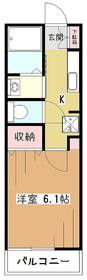 ハイツ・シンフォニー1階Fの間取り画像