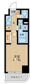 HF関内レジデンス11階Fの間取り画像