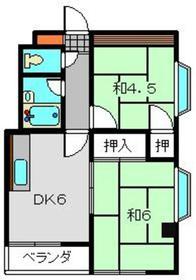 新丸子駅 徒歩25分3階Fの間取り画像