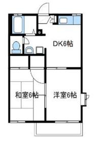ビューハイツ岡崎1階Fの間取り画像