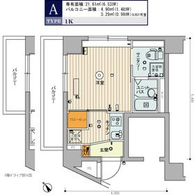 スカイコート豊島南長崎7階Fの間取り画像