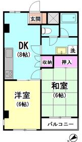 ドミール鹿島 2-B号室