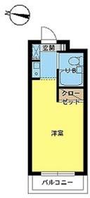 スカイコート新宿落合第54階Fの間取り画像