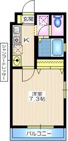 メゾンヨシダ2階Fの間取り画像