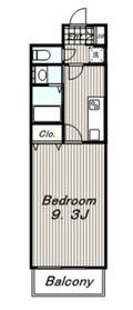 コモンウェルス1階Fの間取り画像