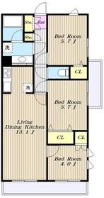 ラナイヒルサイド11881階Fの間取り画像
