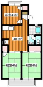 カーサコスモ2階Fの間取り画像